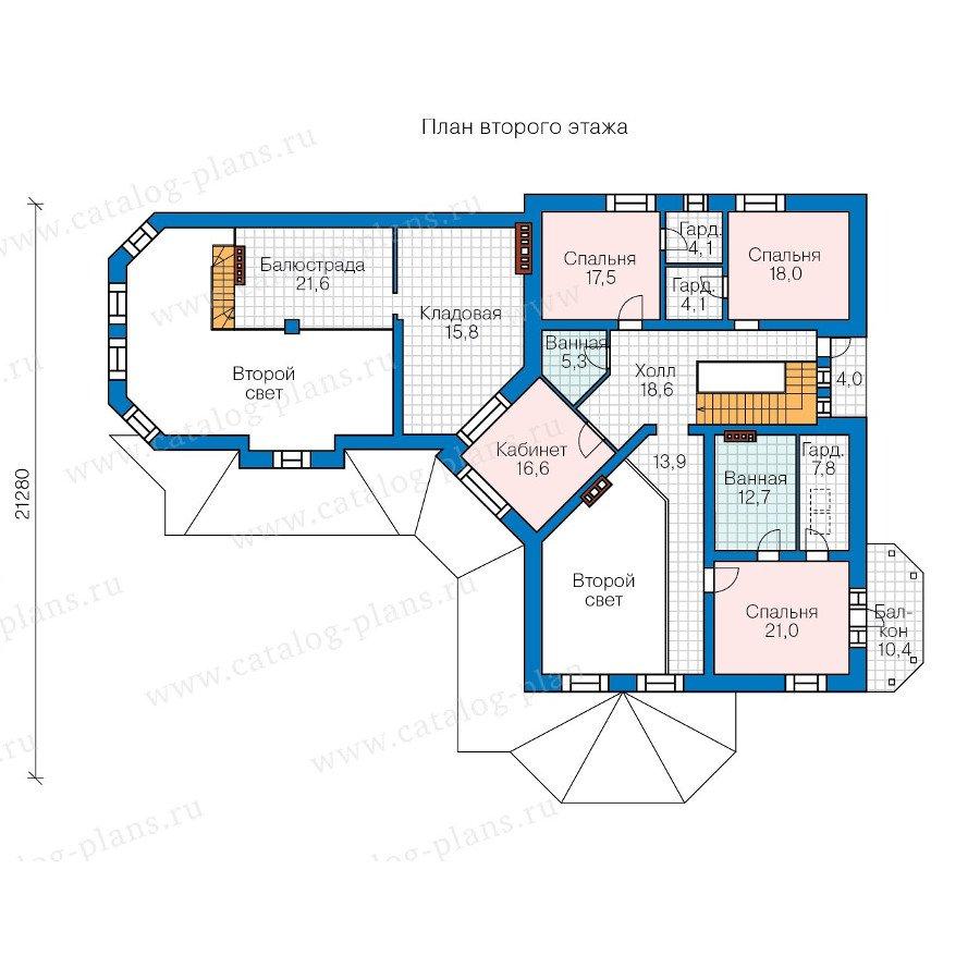 План 2-этажа проекта 47-34