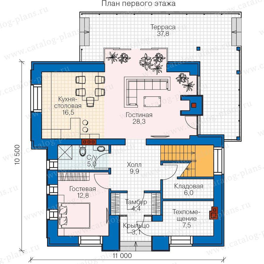 План 1-этажа проекта 47-31