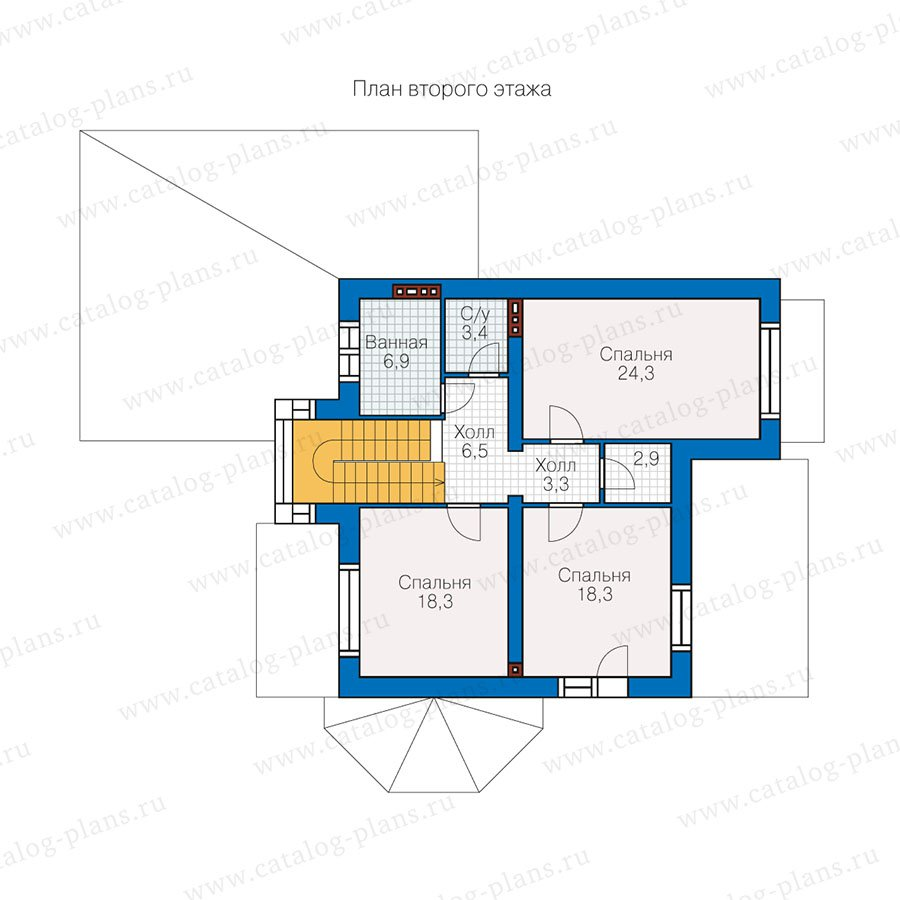 План 2-этажа проекта 47-13