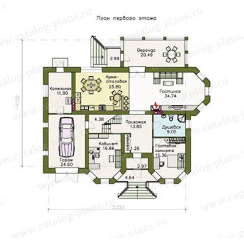 План 1-этажа проекта 47-09