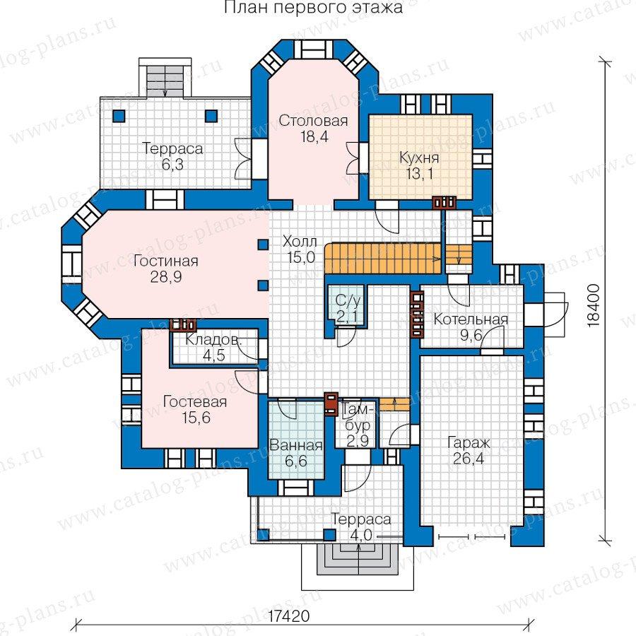 План 1-этажа проекта 47-36