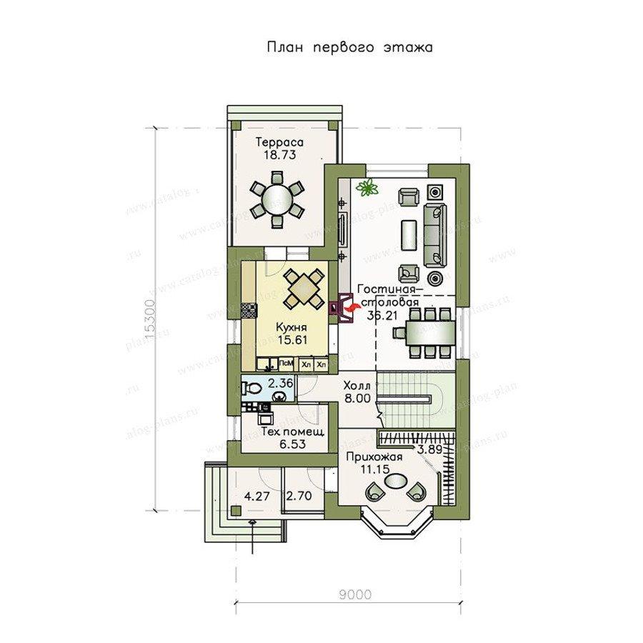 План 1-этажа проекта 47-14