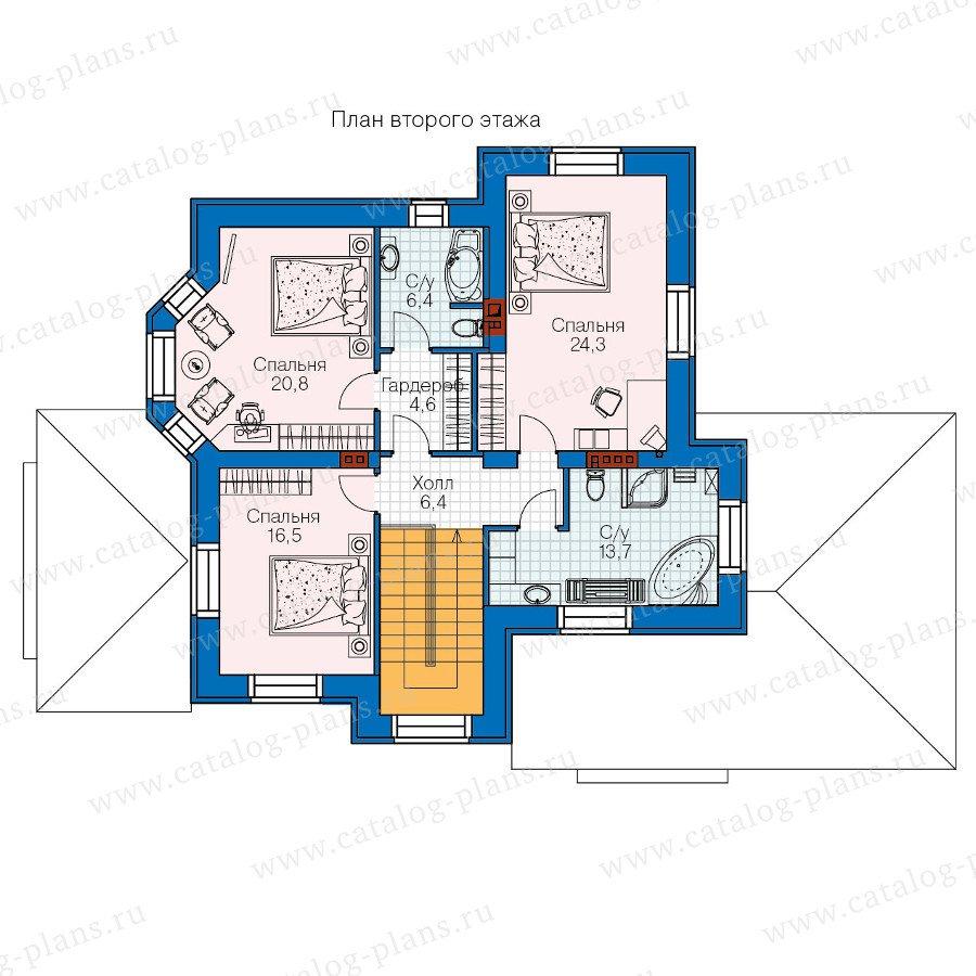 План 2-этажа проекта 47-29