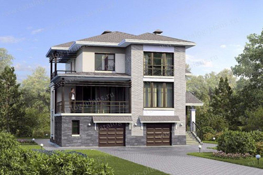 Проект жилой дом #47-11 материал - кирпич, стиль современный