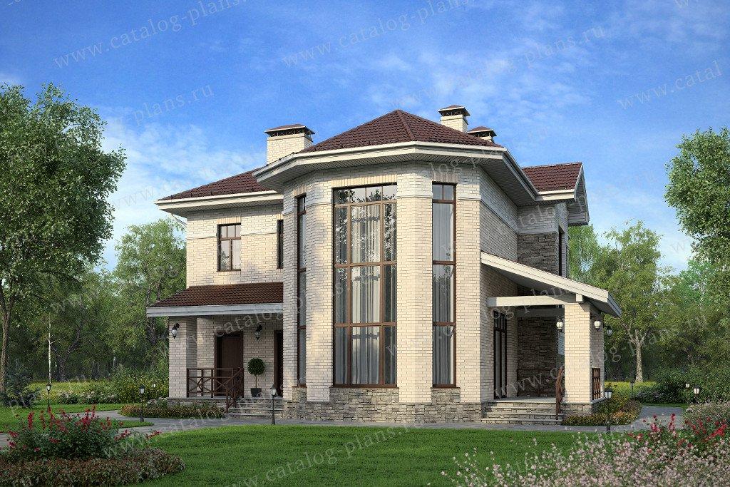 Проект жилой дом #47-32 материал - кирпич, стиль европейский