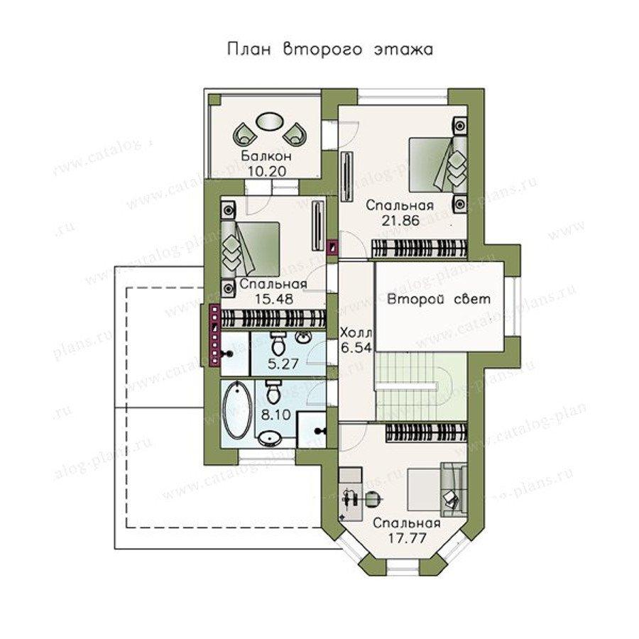 План 2-этажа проекта 47-23