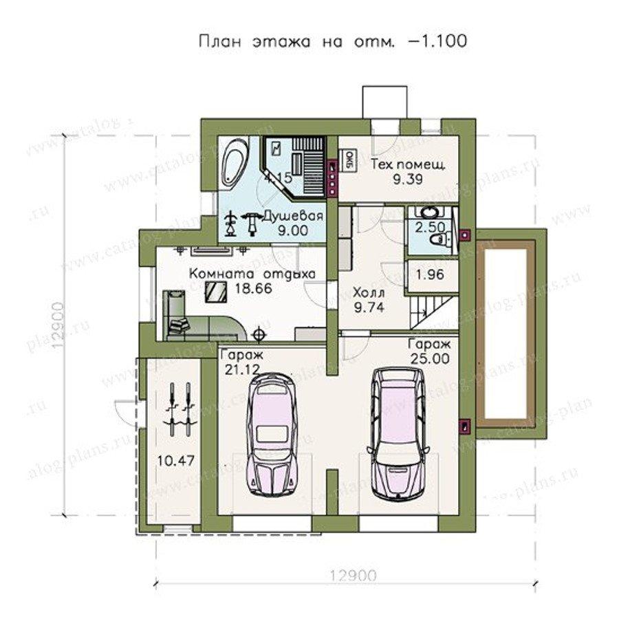 План 1-этажа проекта 47-11