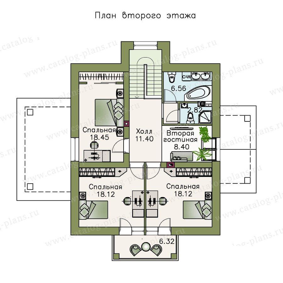 План 2-этажа проекта 47-22