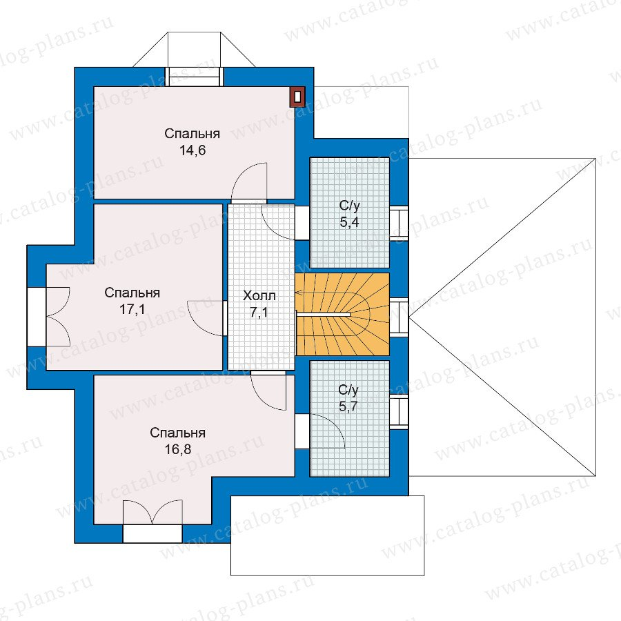 План 2-этажа проекта 47-10