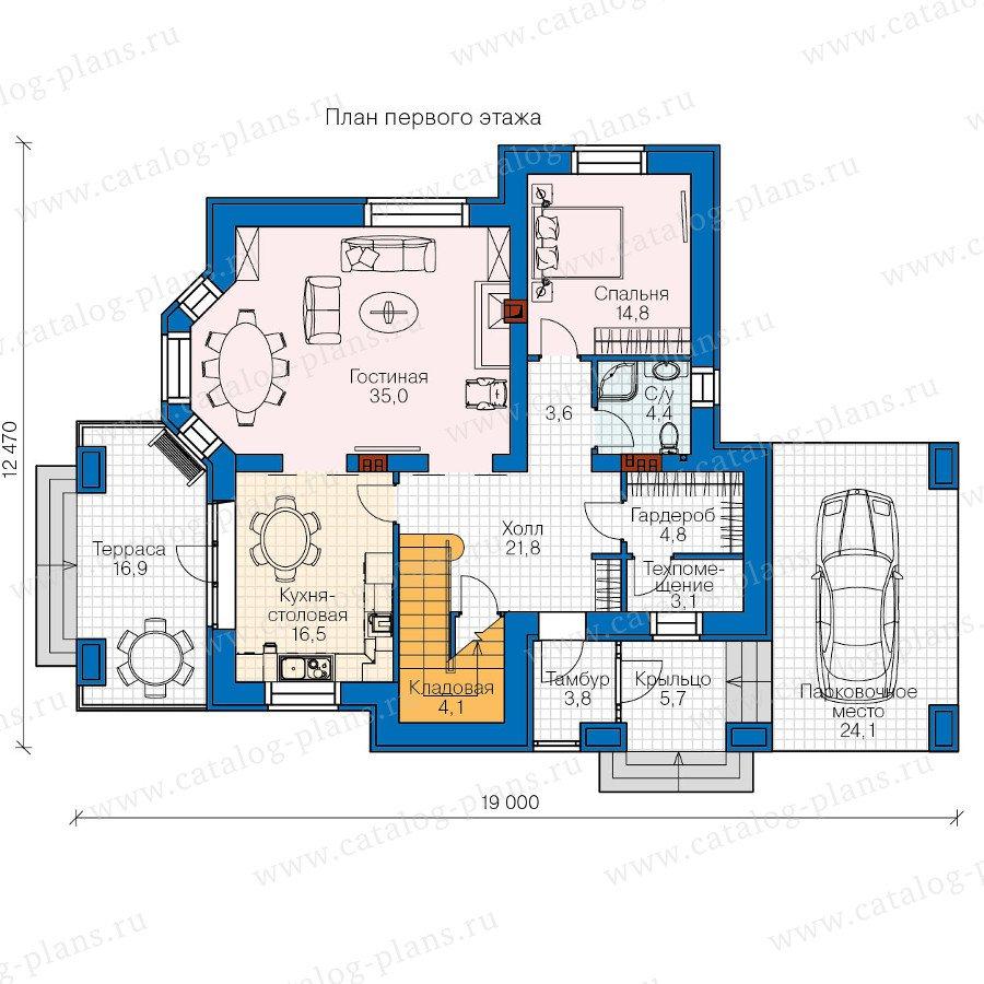 План 1-этажа проекта 47-29