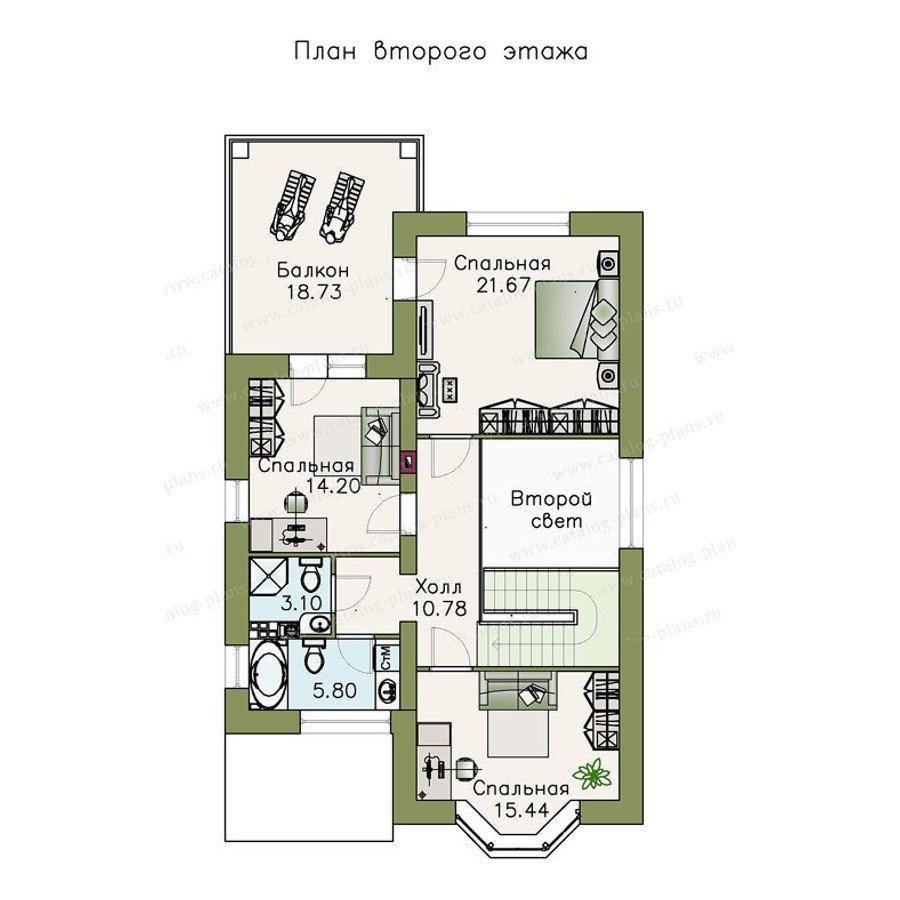 План 2-этажа проекта 47-14