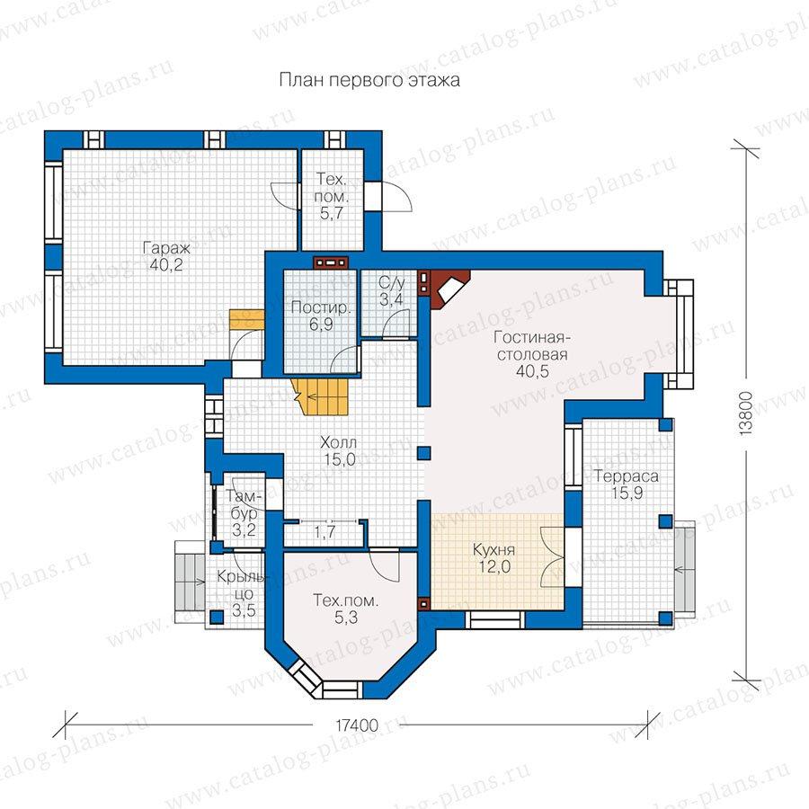 План 1-этажа проекта 47-13