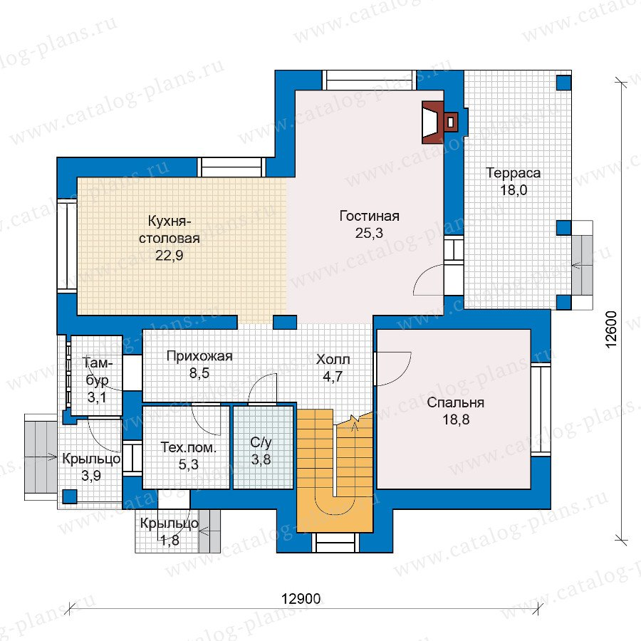 План 1-этажа проекта 47-06