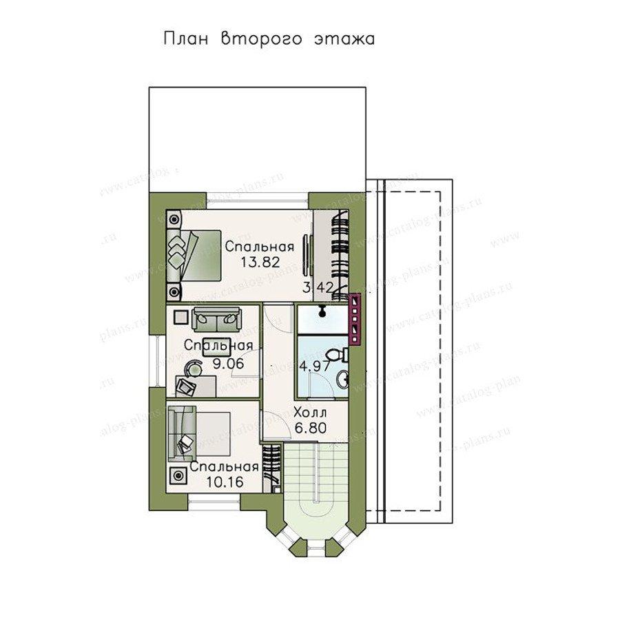 План 2-этажа проекта 47-24