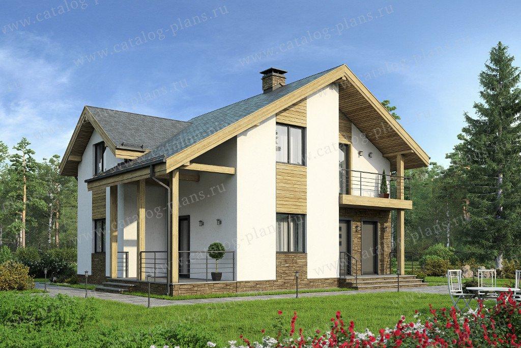 Проект жилой дом #47-30 материал - кирпич, стиль современный