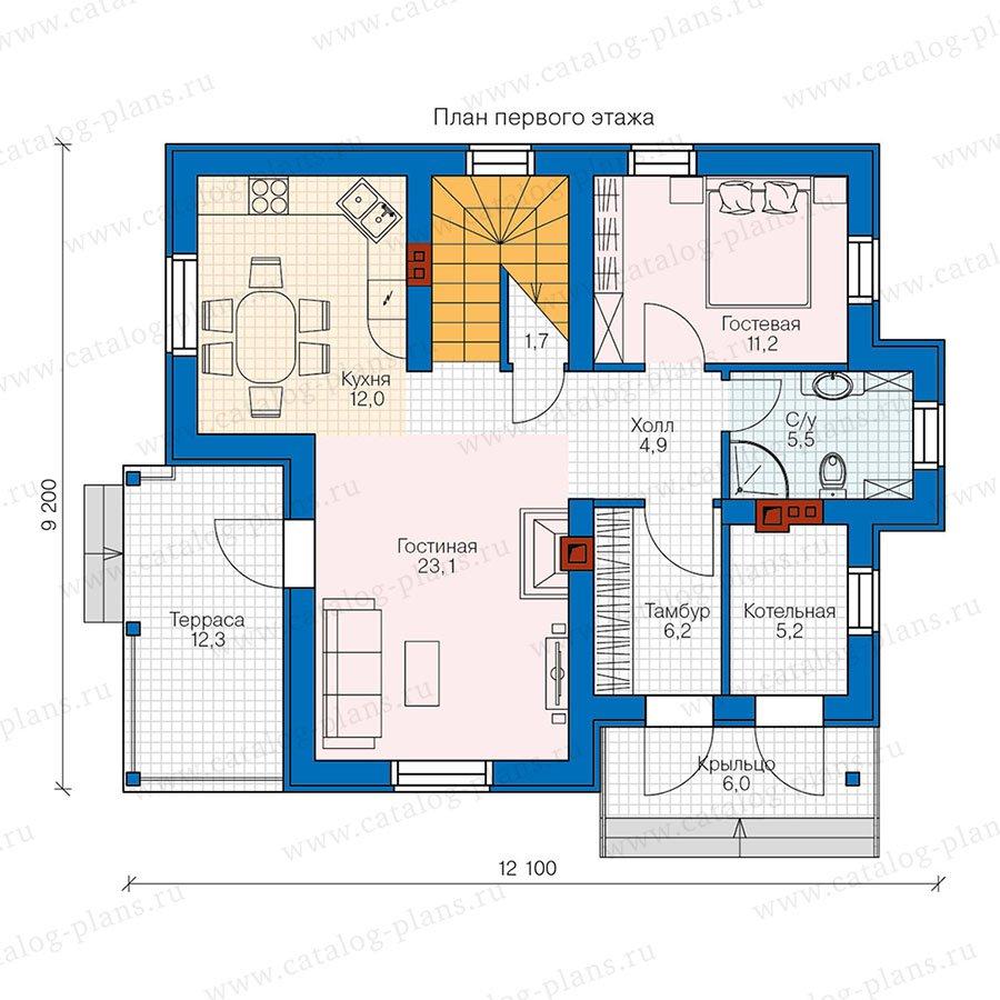 План 1-этажа проекта 47-30