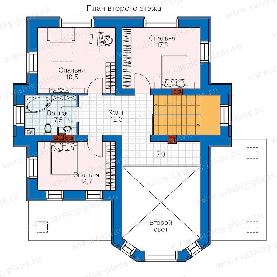План 2-этажа проекта 47-32