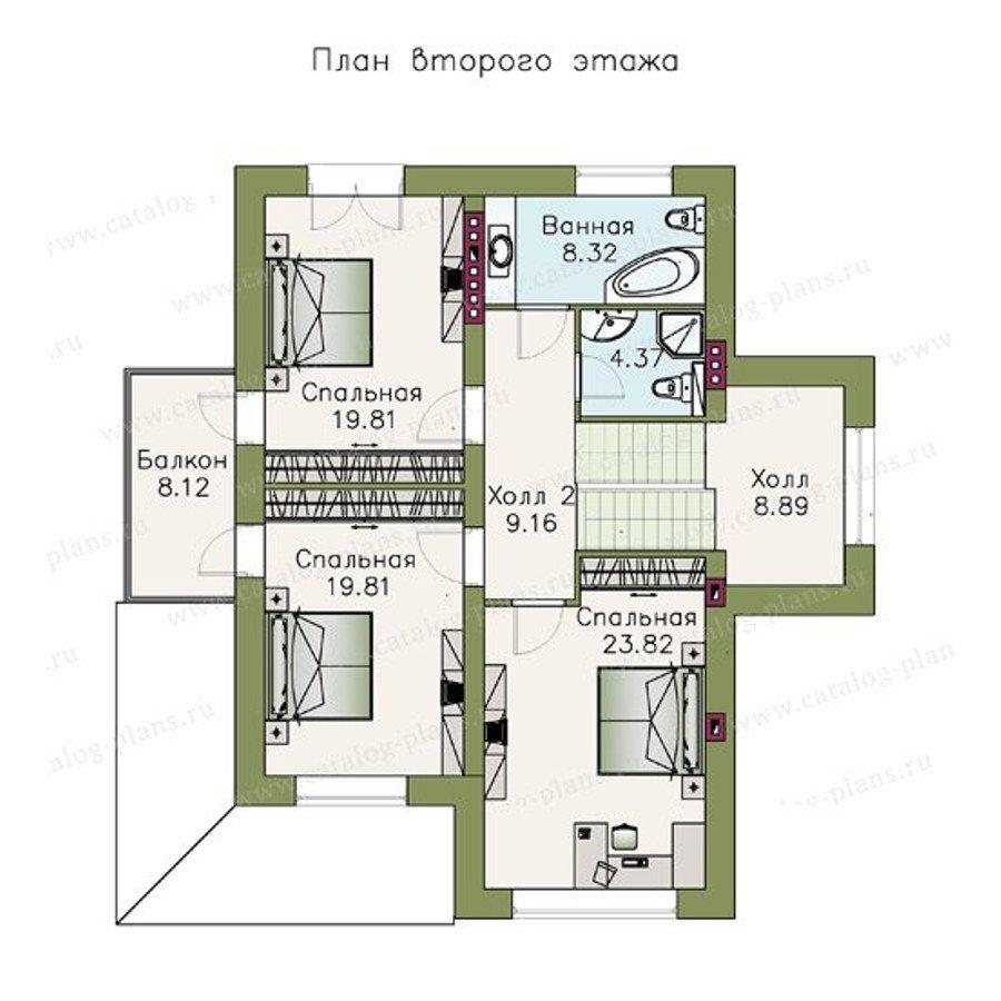 План 3-этажа проекта 47-11