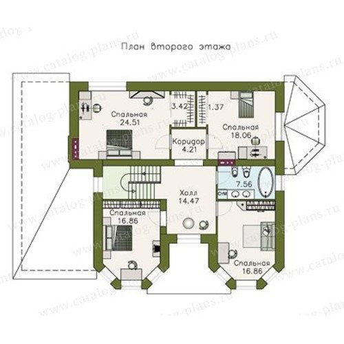 План 2-этажа проекта 47-09