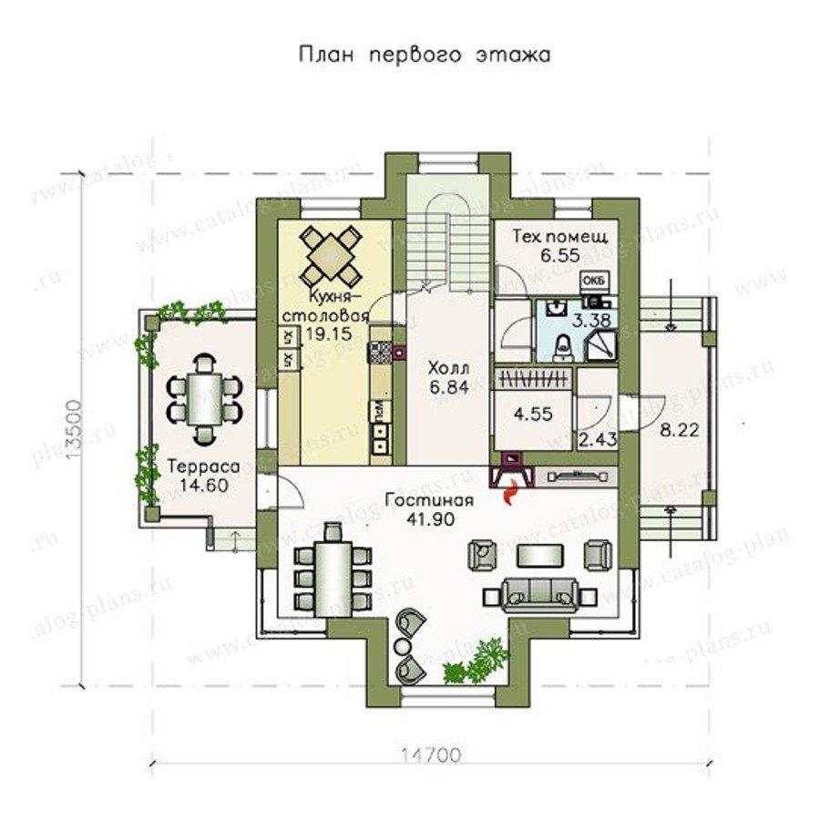 План 1-этажа проекта 47-22