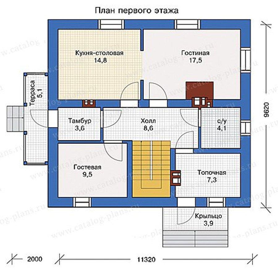 План 1-этажа проекта 40-04L