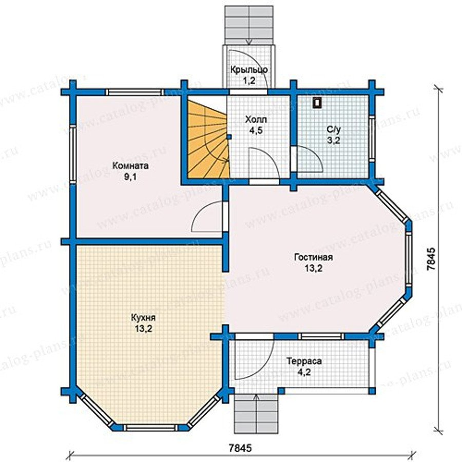 План 1-этажа проекта 13-14