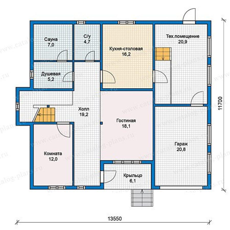 План 1-этажа проекта 13-11