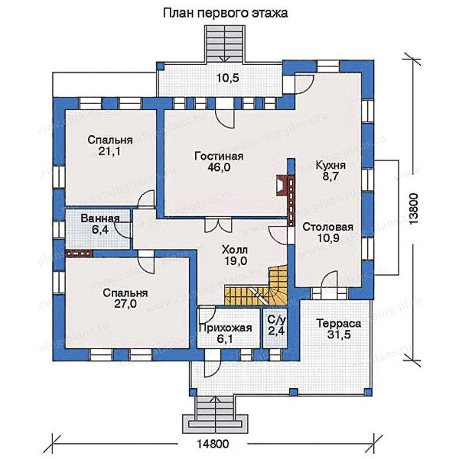 План 2-этажа проекта 33-07