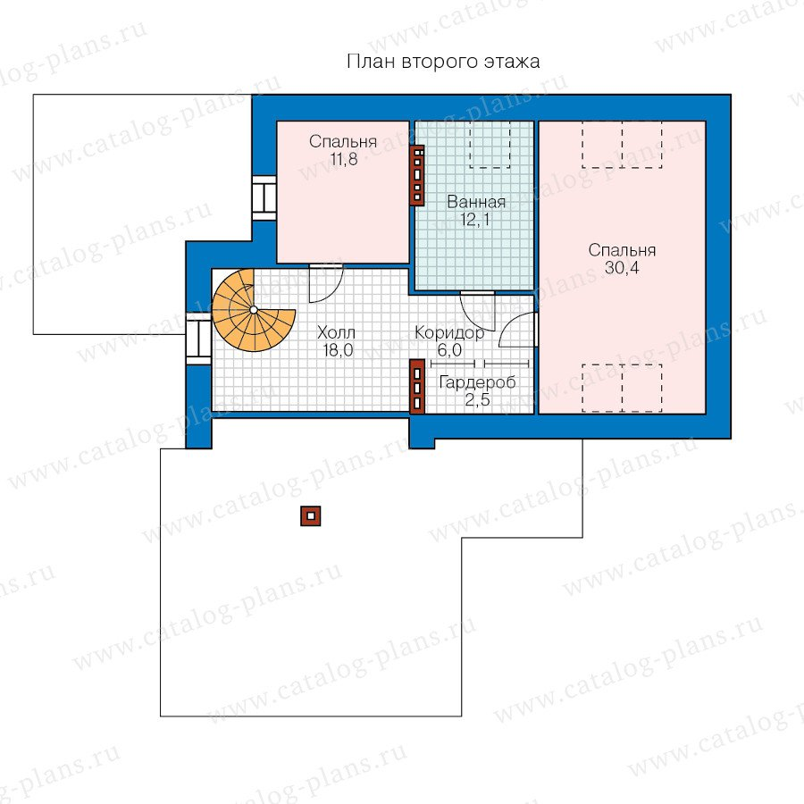 План 2-этажа проекта 47-41