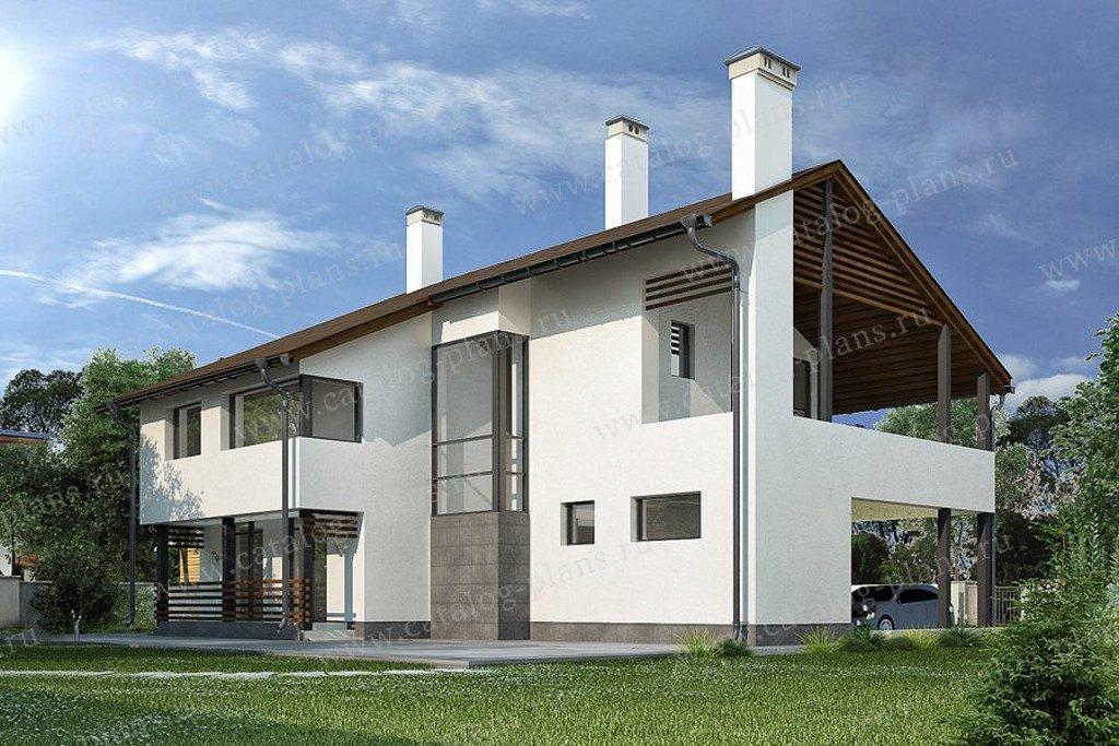 Проект жилой дом #47-49 материал - кирпич, стиль минимализм