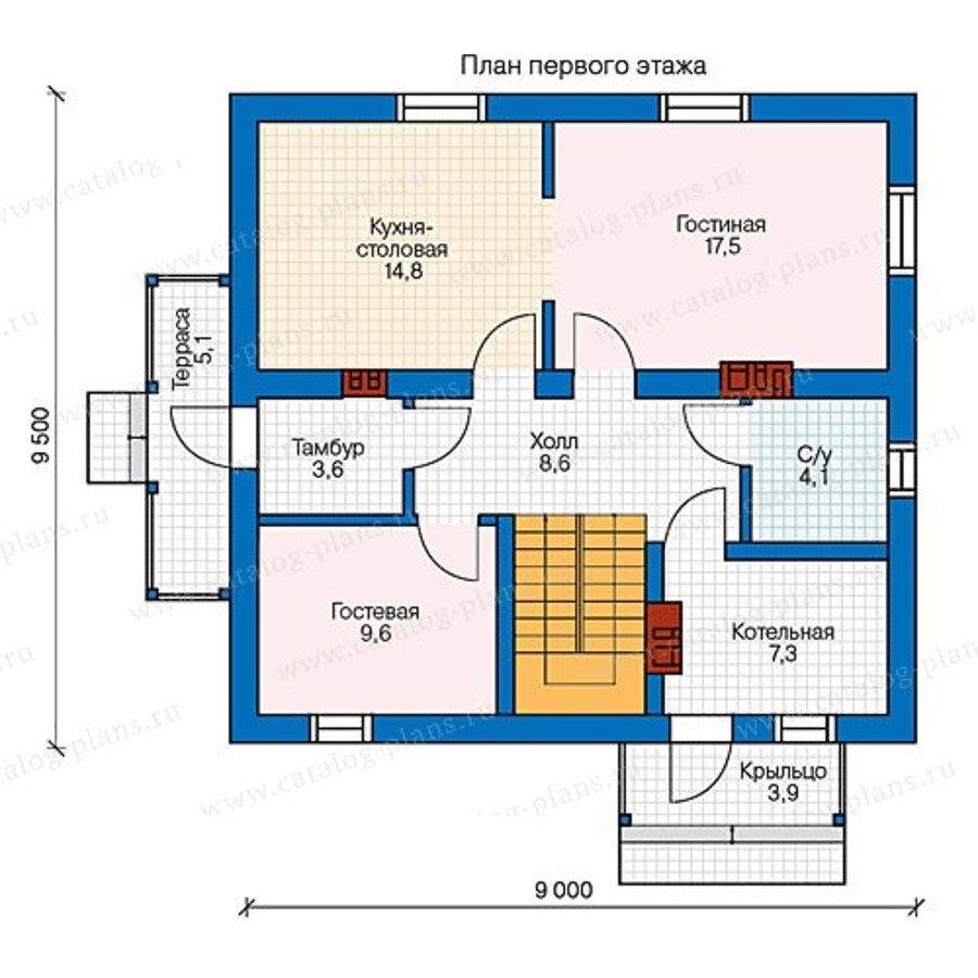 План 1-этажа проекта 40-04G