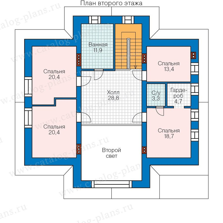 План 2-этажа проекта 47-53