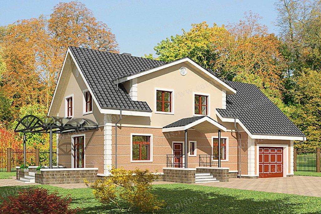 Проект жилой дом #47-40 материал - кирпич, стиль европейский