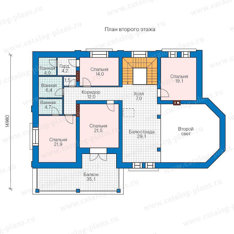 План 2-этажа проекта 47-38