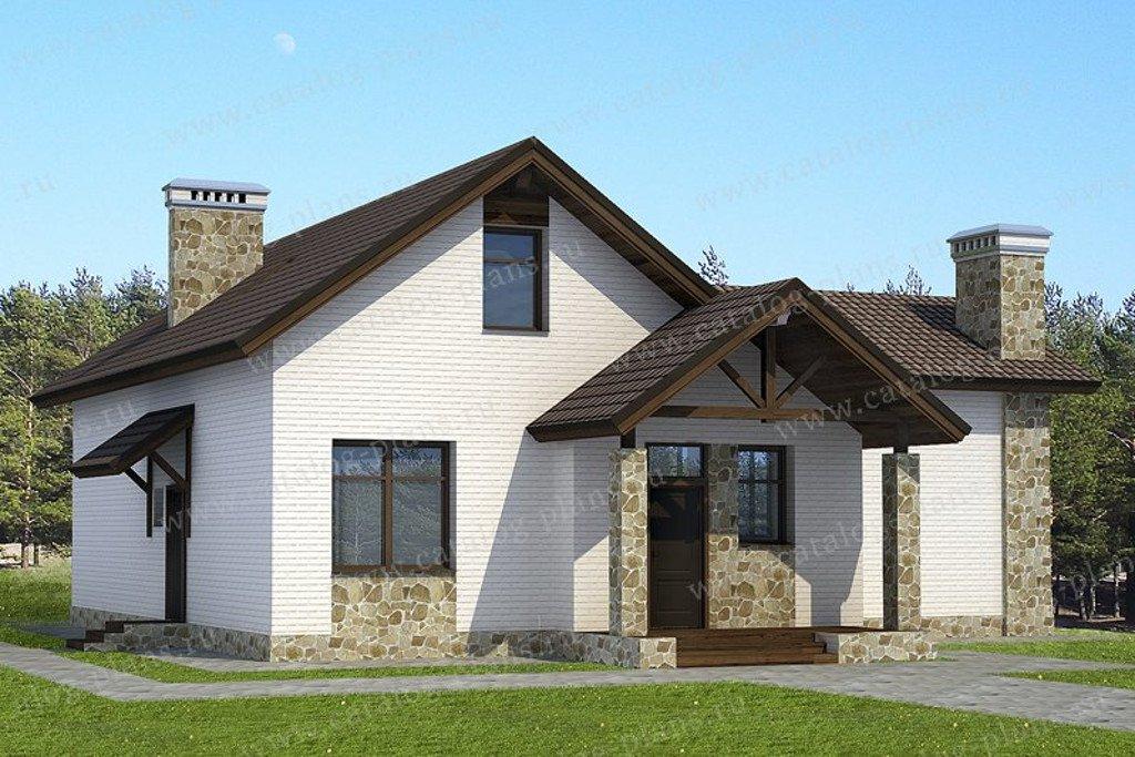 Проект жилой дом #47-50 материал - кирпич, стиль норвежский
