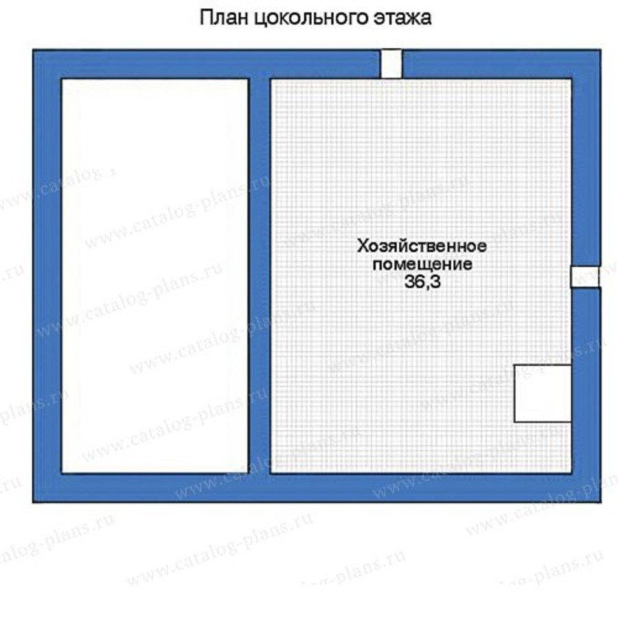 План 1-этажа проекта 35-68