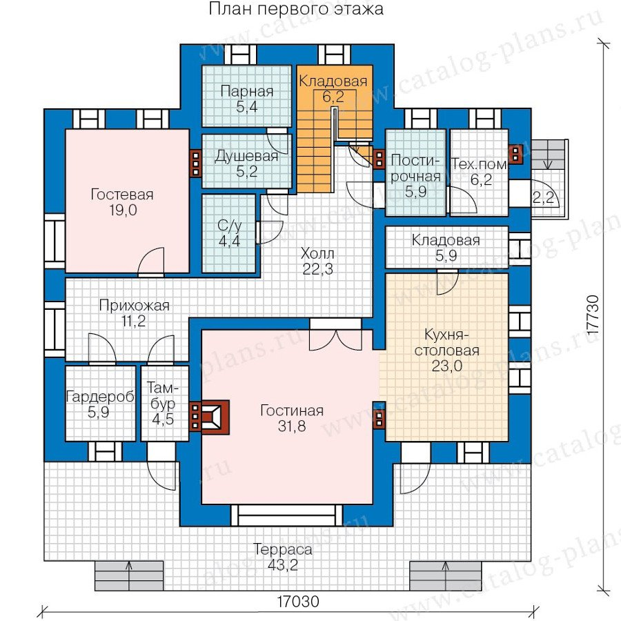 План 1-этажа проекта 47-53