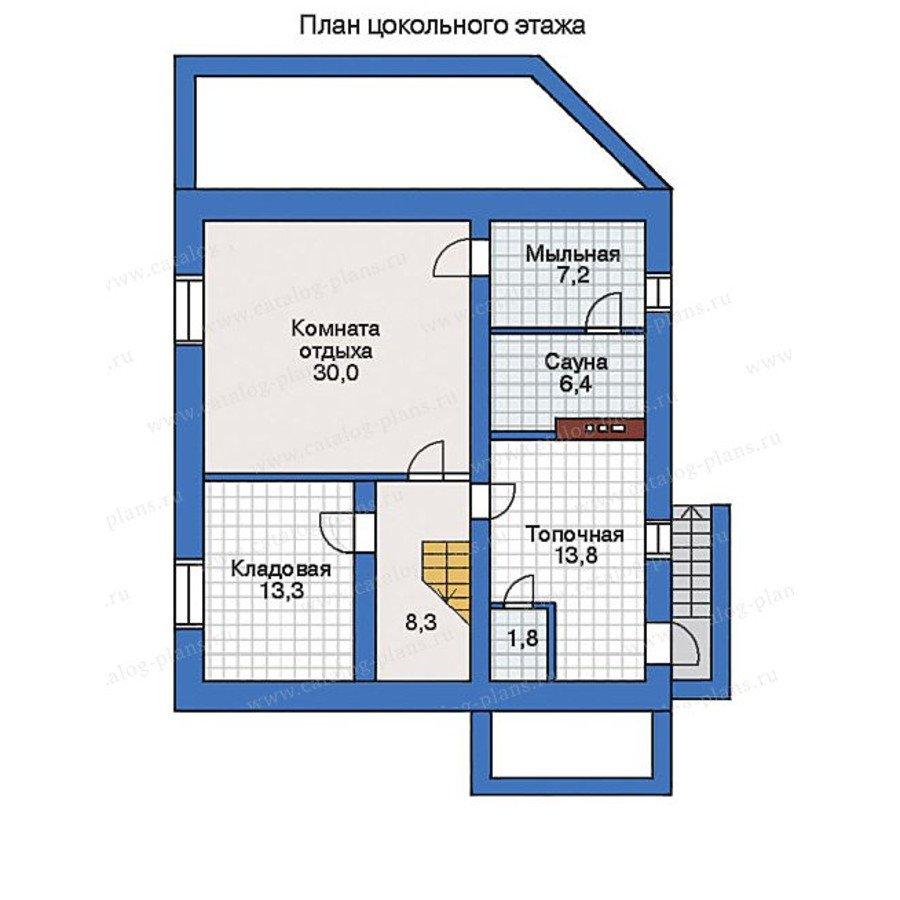 План 1-этажа проекта 32-30
