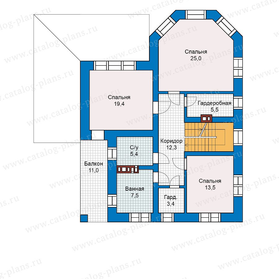 План 2-этажа проекта 40-13