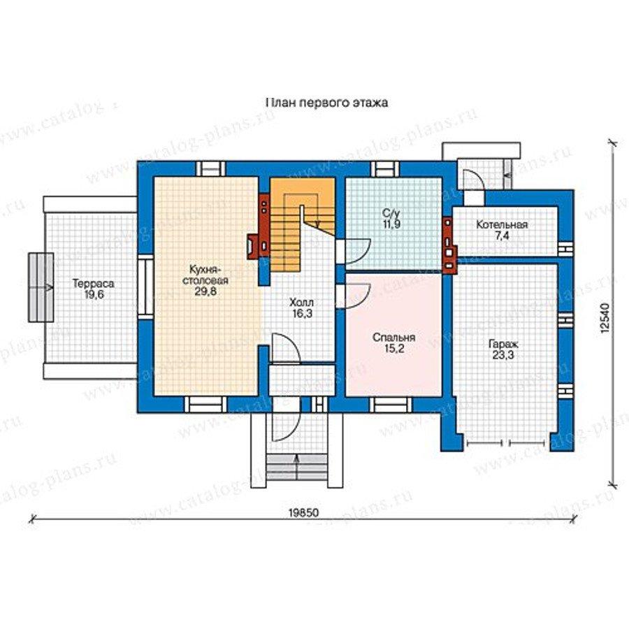 План 1-этажа проекта 47-40