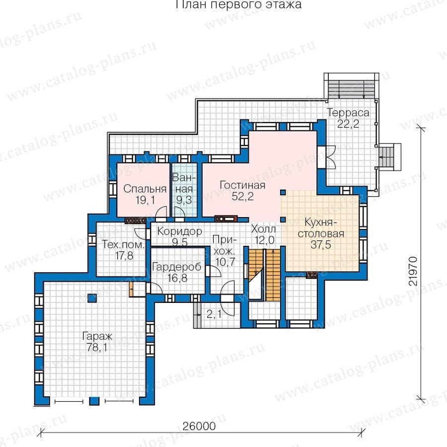План 2-этажа проекта 47-37