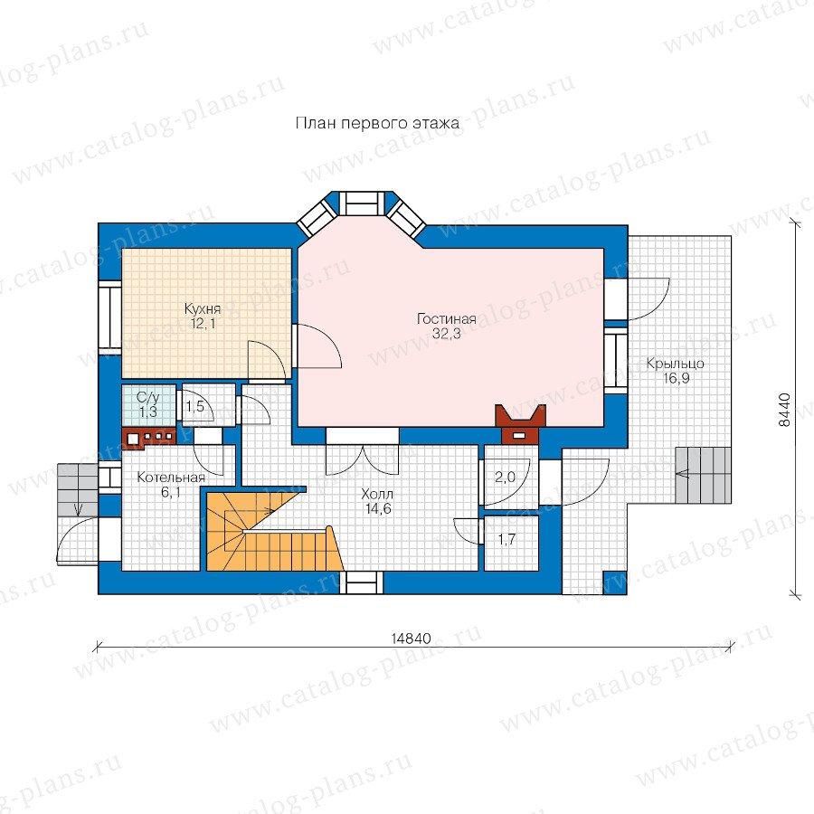 План 1-этажа проекта 47-42