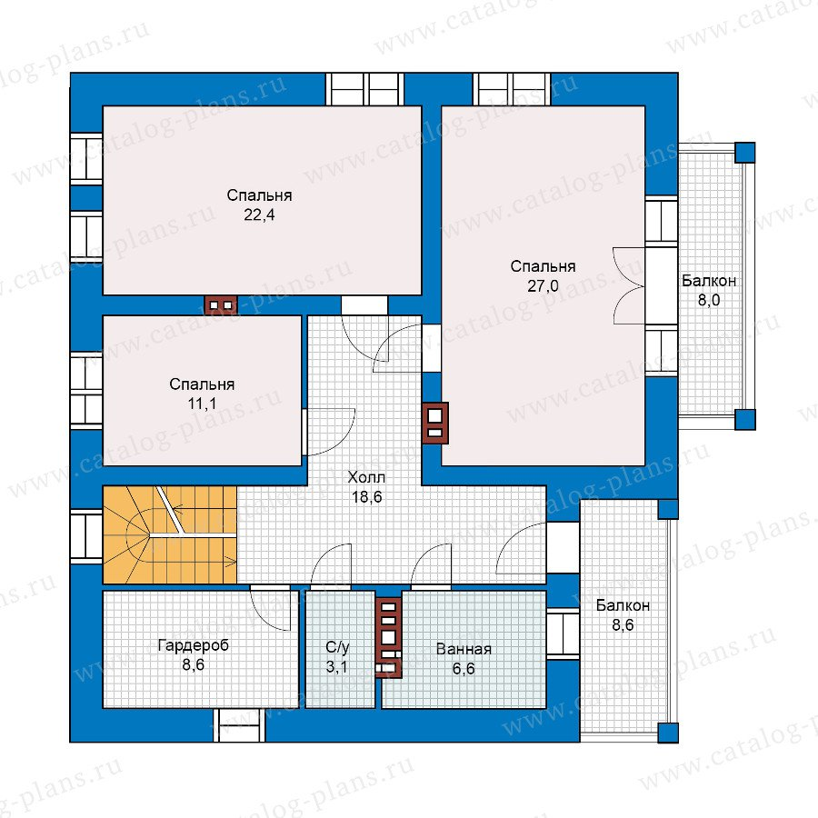 План 2-этажа проекта 40-17