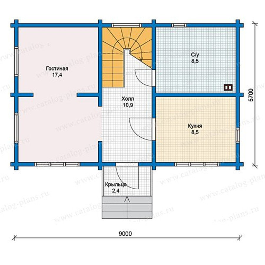 План 1-этажа проекта 13-13