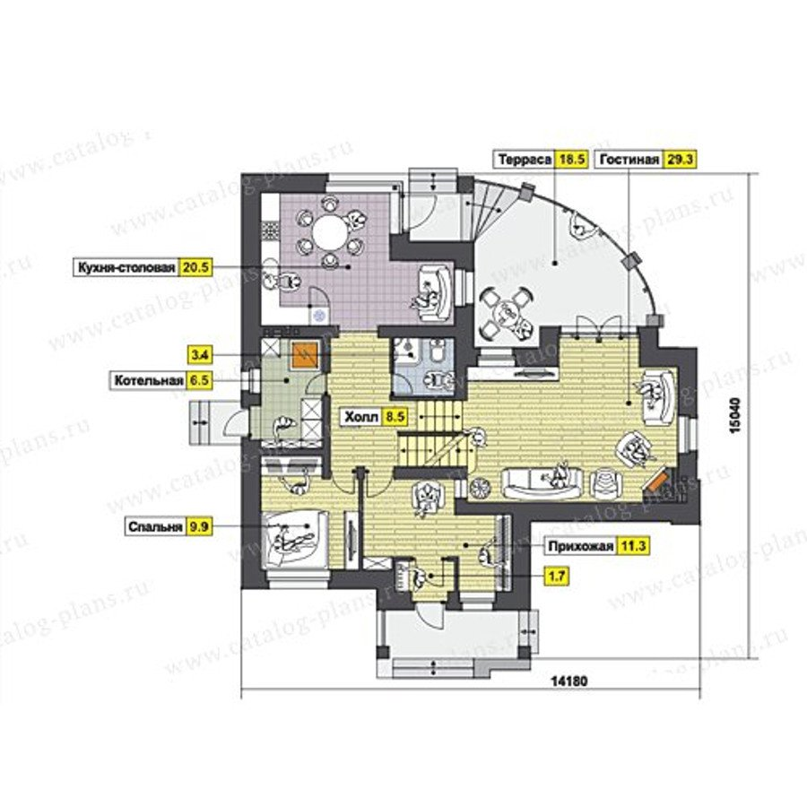 План 2-этажа проекта 47-50