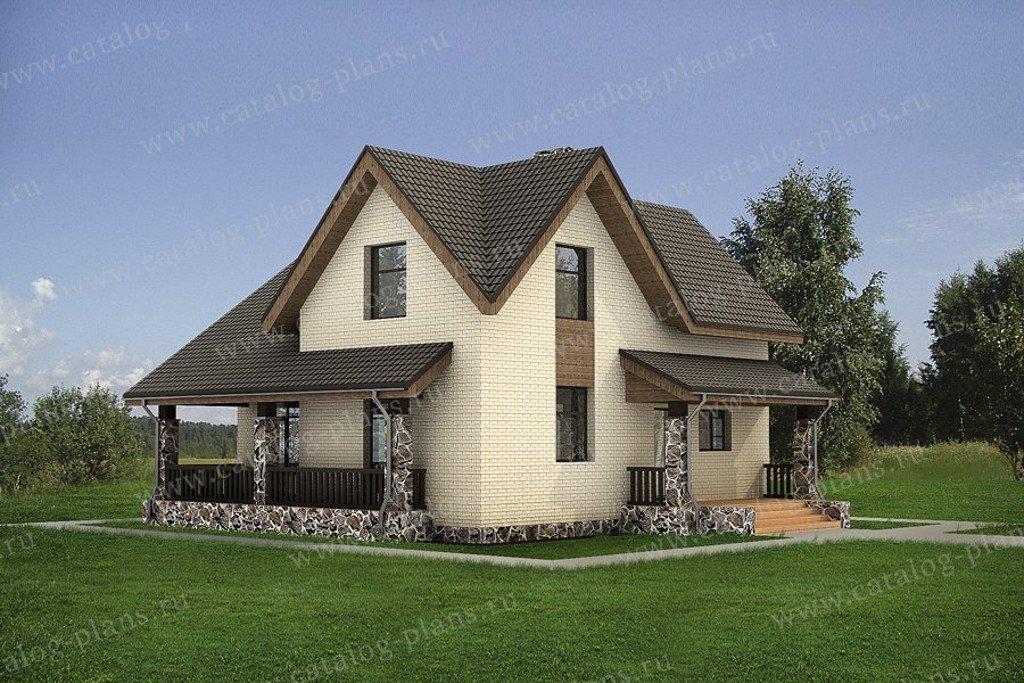 Проект жилой дом #47-51G материал - газобетон, стиль европейский
