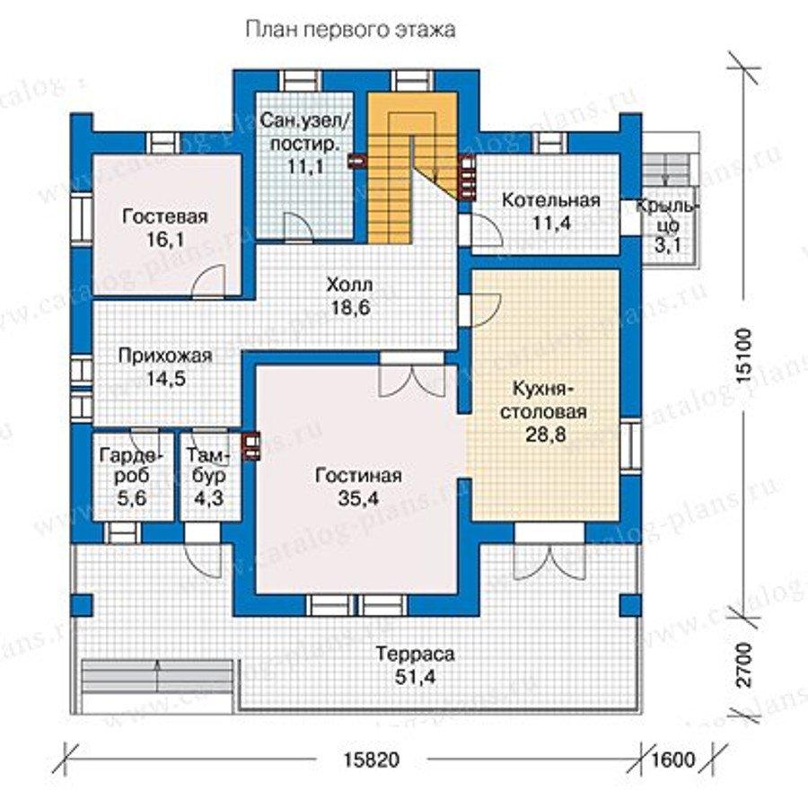 План 1-этажа проекта 40-09L