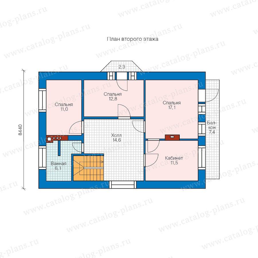 План 2-этажа проекта 47-42