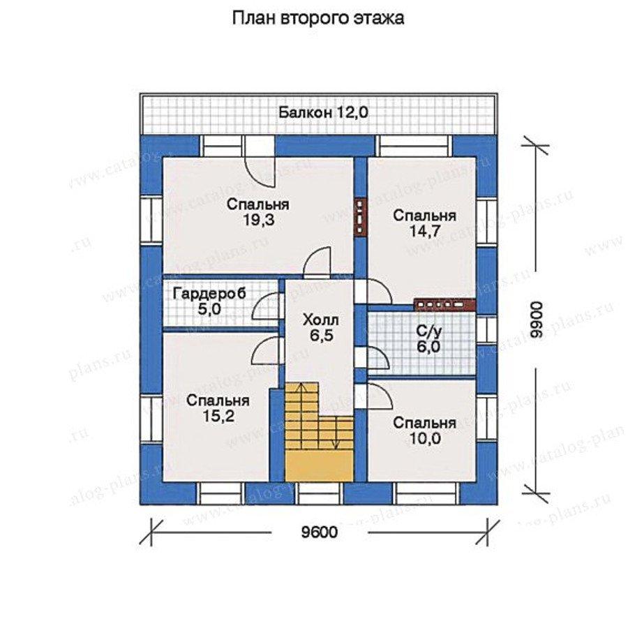 План 3-этажа проекта 32-30
