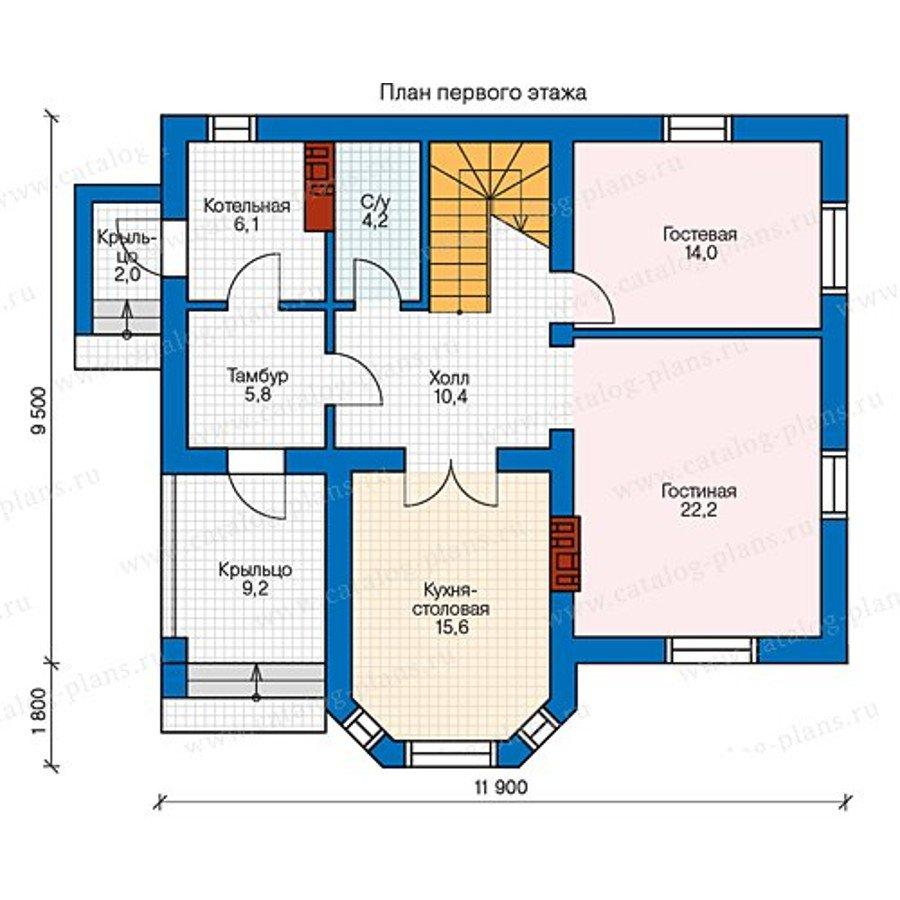 План 1-этажа проекта 40-12K1L